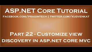 Customize view discovery in asp net core mvc