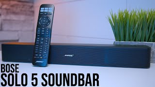 Bose Solo 5 Soundbar Unboxing And Sound Test