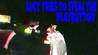 LUCY TRIES TO STEAL THE PLAY BUTTON!!!