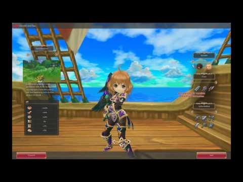 Twin Saga Character Select and Character Creation Screen