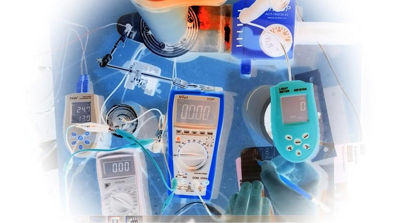 Светодиод 10Вт и изменение КПД при разных токах и температурах 25С и 50С