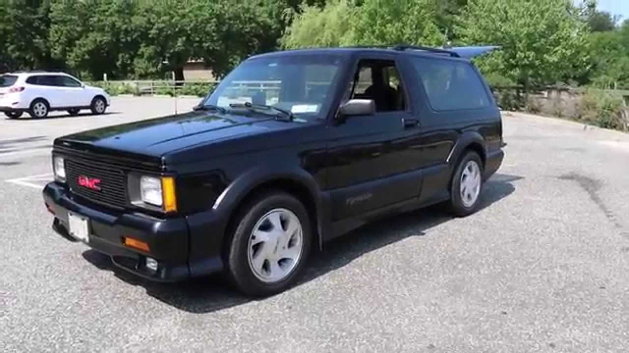 Sold 1992 Gmc Jimmy Typhoon For Sale Low Miles 4 3l