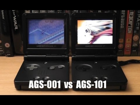 Game Boy Advance Screen Comparisons - SP AGS-101 vs AGS-001 vs GBA ...