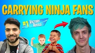 I Carried Ninja Fans in Random Duos (Fortnite Battle Royale)