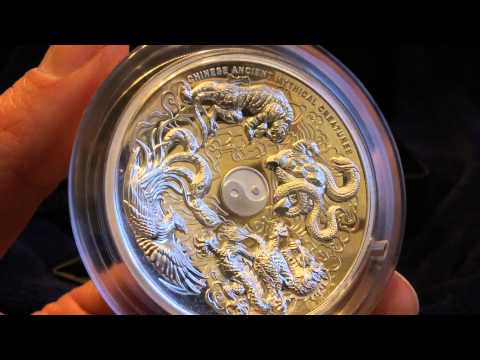 2015 5 Oz Silver Proof High Relief Coin: Chinese Ancient Mythical Creatures