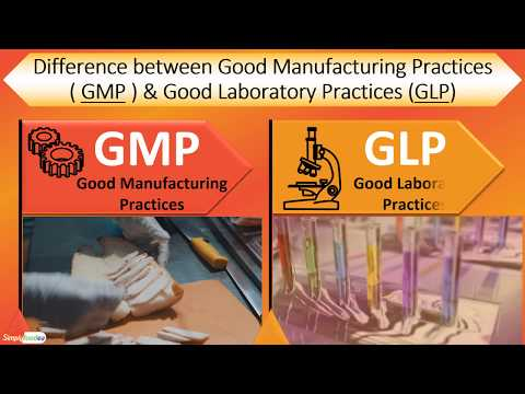 Difference Between #GMP (Good Manufacturing Practices)🏭  & #GLP (Good Laboratory Practices)🏷️🔬