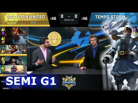 Gold Coin United vs Tempo Storm Game 1 | Semi Finals S7 NA CS Summer 2017 | GCU vs TS G1 1080p