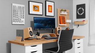 Modern Productivity Desk Setup MAKEOVER (2021)