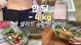 🌞샐러드 4주 정기배송 다이어트 후기 ( 1달 - 4kg , 다이어트 식단 브이로그, 샐러드, 슬림쿡 ) | 헤선SUNNY