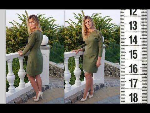 Я ШЬЮ: Платье-реглан зеленое трикотажное / I SEW: Dress raglan sleeve