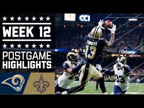 Rams vs. Saints | NFL Week 12 Game Highlights