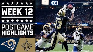 Rams vs. Saints | NFL Week 12 Game Highlights