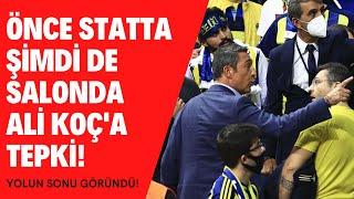 Ali Koç taraftar tepki  Fenerbahçe Beko Barcelona  Derbinin yankıları  Ali Koç kavga mı etti