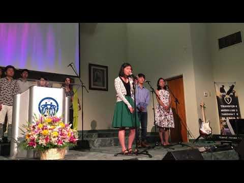 """Unification Song 우리의 소원은 통일"" 2017-9-3 LA family Church Harumi, Denpota and Sarah"