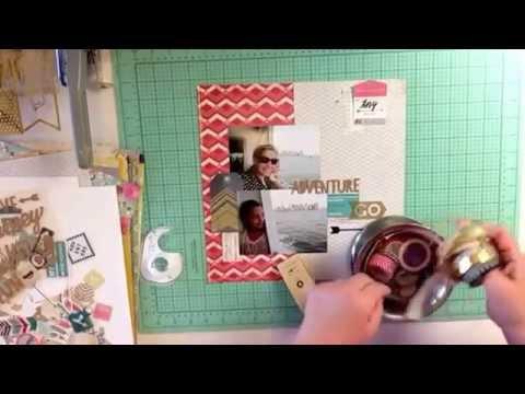 Scrapbook Layout #6: NYC Adventure Go / DIY Crate Paper Journey Kit