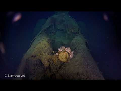 Underwater survey video of the wreck of HMAS AE1