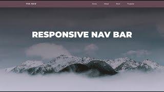 Responsive Navigation Bar Tutorial | HTML CSS JAVASCRIPT