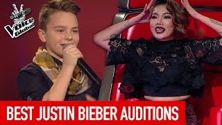 BEST JUSTIN BIEBER Blind Auditions on The Voice [PART 2]