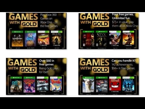 All Games with Gold Xbox One i 360 2016