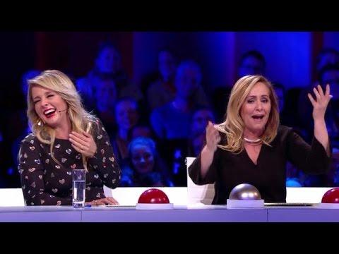Hilarisch commentaar Angela bij auditie - HOLLAND'S GOT TALENT