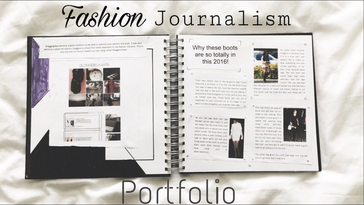 Example Of A Fashion Journalism Portfolio Youtube