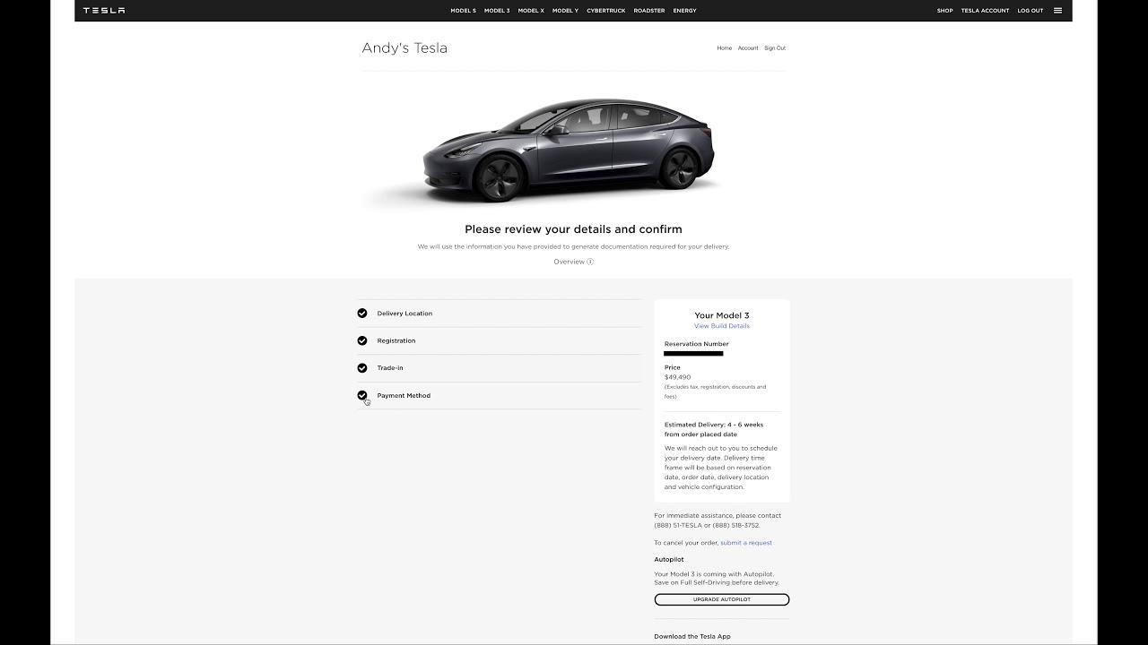 I ordered a Tesla Model 3 - My configuration, order date ...