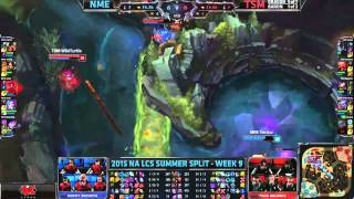 NME (Otter Jinx) VS TSM (Wildturtle Tristana) Highlights {EPIC} - 2015 NA LCS Summer W9D1