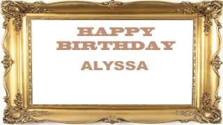 Alyssa   Birthday Postcards & Postales - Happy Birthday