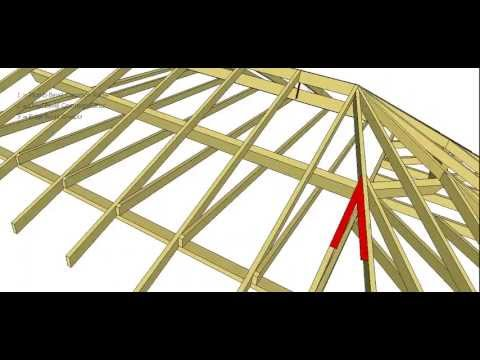 Semi Octagonal Roof Bevel And Member Positions Youtube