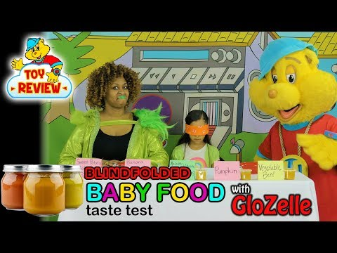 BABY FOOD TASTE TEST WITH GLOZELL | From Yummy To Yucky! | Hip Hop Harry Toy Review