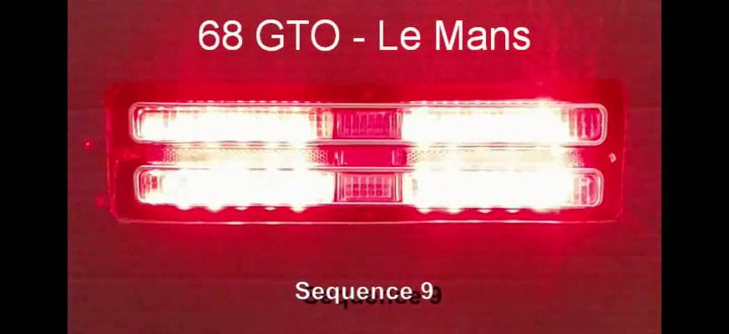 1968 GTO – Le Mans LED Sequential Tail Lights by Easy ...