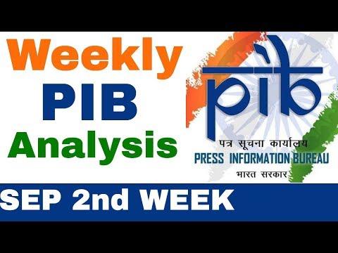 Weekly PIB Analysis (SEP 2nd Week)   Press Information Bureau Analysis in Hindi