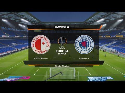 Slavia Prague vs Rangers   Round of 16 - Europa League 2020/21