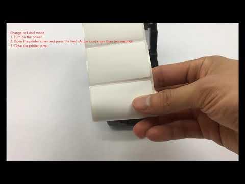 Printer Setup And Installation_Change To Label Mode