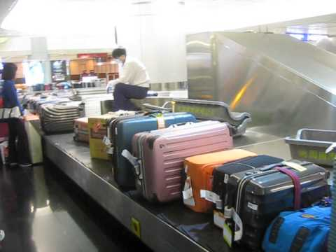 Tons of luggage waiting for claimming