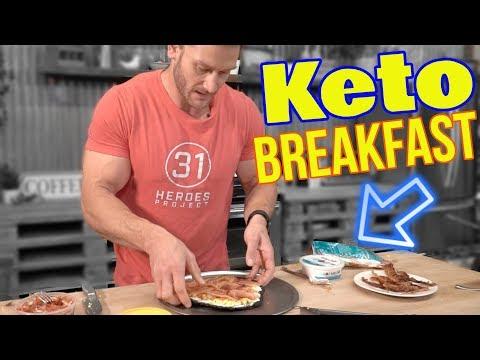 Keto Breakfast Alternative: Bacon Pizza!