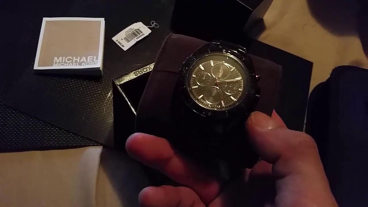 d8a26d0f90ce Michael Kors Jetmaster Black Carbon Fiber Chronograph Watch MK8455 ...
