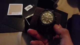 Michael Kors Jetmaster Black Carbon Fiber Chronograph Watch MK8455