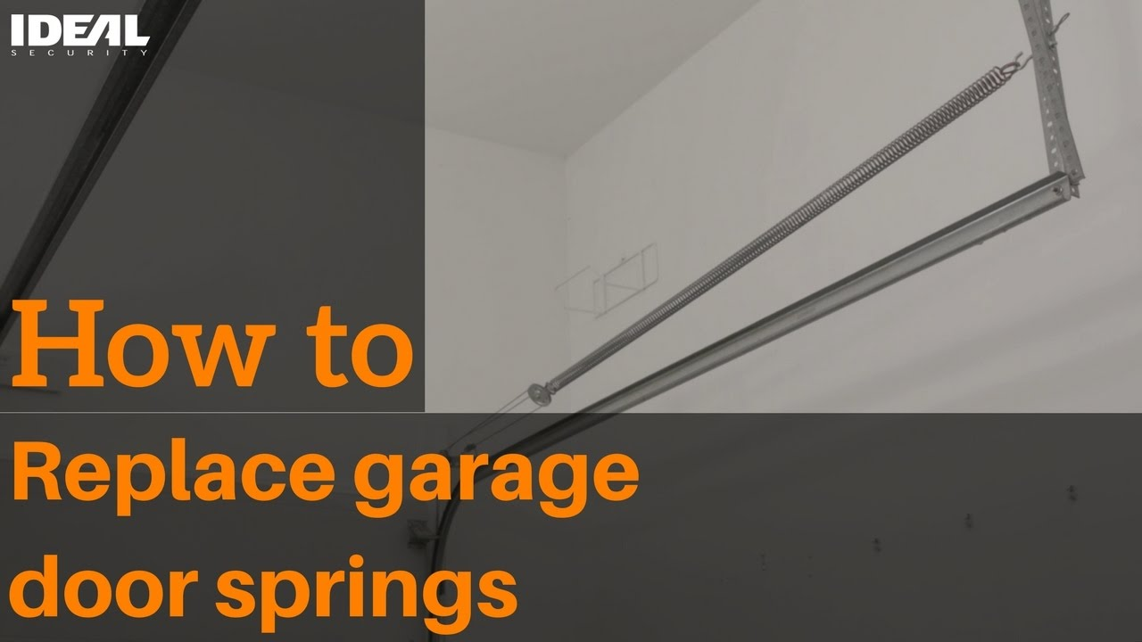 How To Replace Garage Door Extension Springs