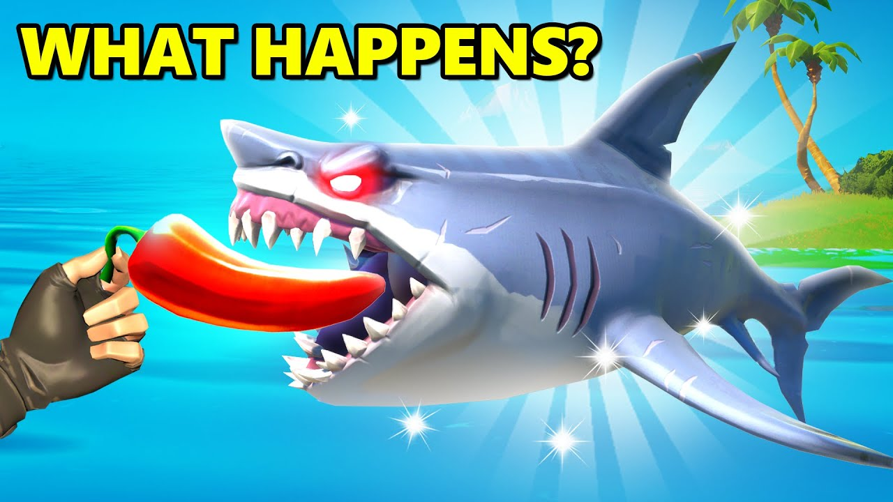What Happens if Shark eats a Chilly in Fortnite