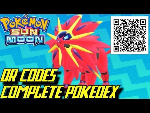 Pokémon Sun and Moon - Complete Pokédex (ALL QR Codes & Shinies)