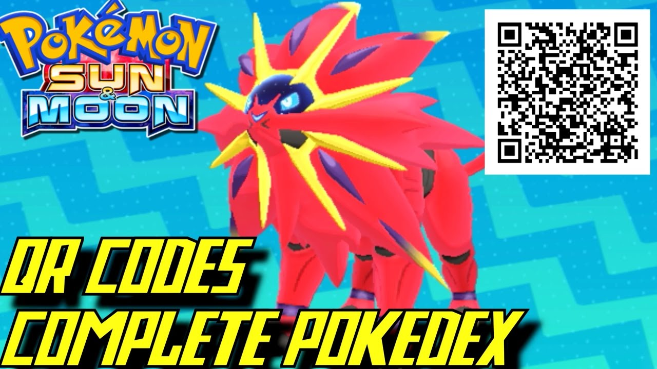 Pokémon Sun and Moon QR codes list - how the scanner works
