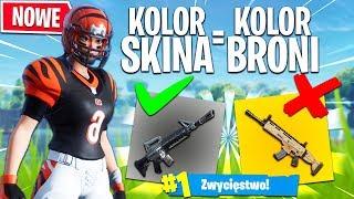 KOLOR KOSZULKI = KOLOR BRONI! *NOWY* CHALLENGE! | Fortnite - Battle Royale