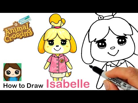How To Draw Isabelle The Dog Animal Crossing Youtube