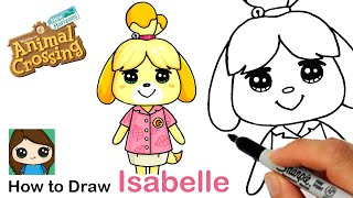 How to Draw Isabelle the Dog | Animal Crossing