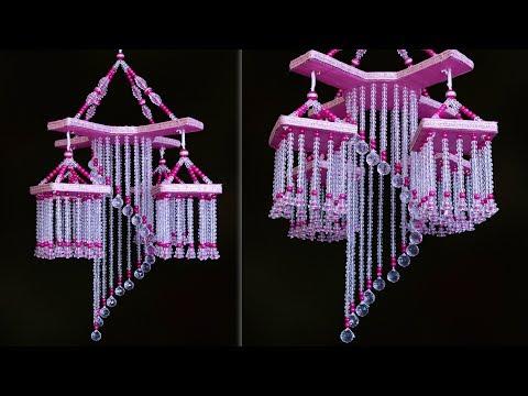 Most Beautiful Pearl Chandelier || DIY Pearl Wind Chime || Jhumar Making