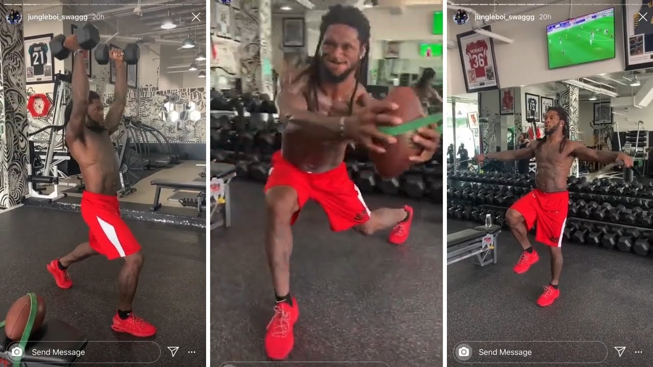 New Orleans Saints Free Safety DJ Swearinger  PUTS IN SERIOUS Gym Work