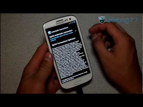 Sprint Samsung Galaxy S III: Stop Wifi Radio from Automatically Turning On and Off