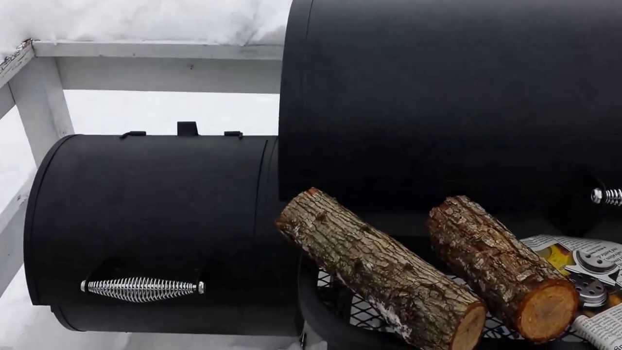 How To Season Bbq Char Broil Offset Smoker 1280 Youtube