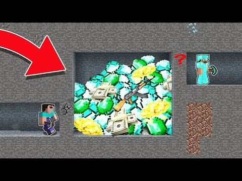 Minecraft NOOB Vs PRO : HOW NOT TO DIG A SECRET MINE In Minecraft! Challenge 100% Trolling!